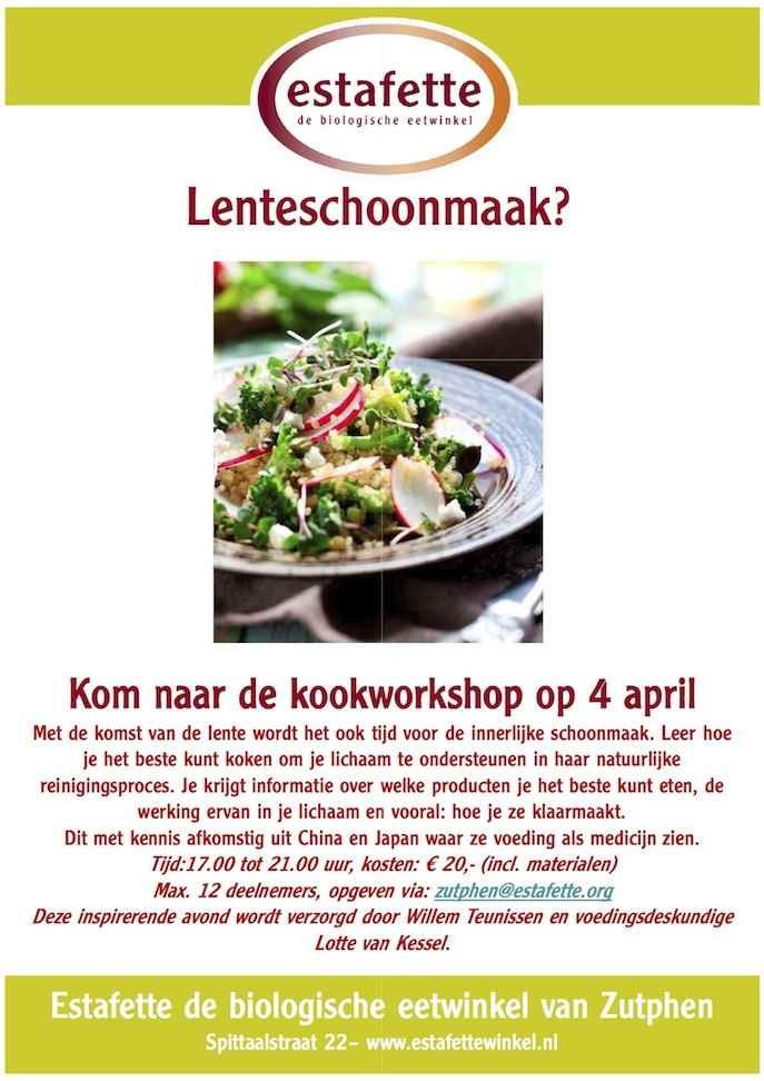 kookworkshop lenteschoonmaak